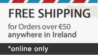 free shipping on orders over € 50 – online only