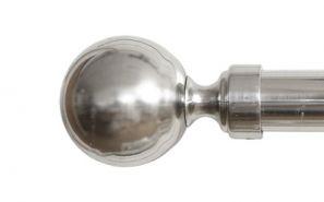 28mm Vista Brushed Steel Rod Set 160cm