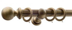 50mm Monarch Countess Bronze Complete Curtain Pole Set 300CM