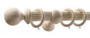 50mm Monarch Countess Cream Gold Complete Curtain Pole Set 200CM