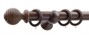 50mm Monarch Earl Antique Walnut Complete Curtain Pole Set 200CM