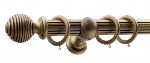 50mm Monarch Earl Bronze Complete Curtain Pole Set 240CM