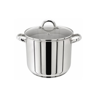 Judge Stainless Steel Stockpot with Glass Lid - 28CM (13.5L)