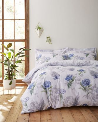 Bianca Botanical Cotton Duvet Cover Set - King