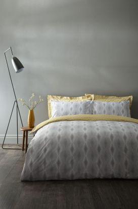 Bianca Cottonsoft Ziggurat Grey Duvet Cover Set - Double