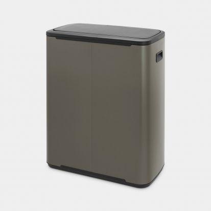 Brabantia Bo Touch Bin 2 x 30L - Platinum
