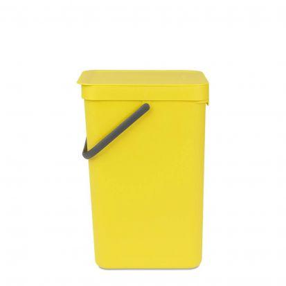 Brabantia Sort & Go Waste Bin 16-Litre Yellow