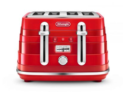 Delonghi Avvolta 4 Slice Toaster Red