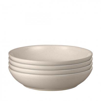 Denby Intro Warm Taupe 4 Piece Pasta Bowl Set