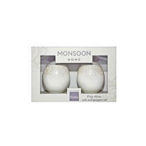 Denby Monsoon Lucille Gold Salt and Pepper Pot Set