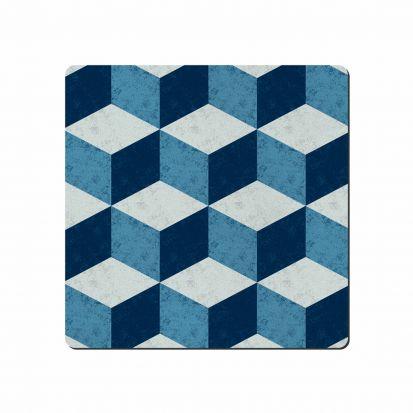 Denby Studio Blue Geometric Square Placemats Set of 6