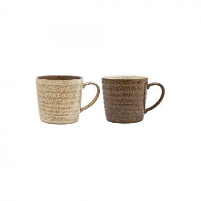 Denby Studio Craft 2 Piece Ridge Mug Set