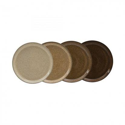 Denby Studio Craft 4 Piece Medium Coupe Plate Set