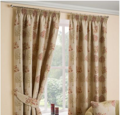 Dreams & Drapes Arden Chintz Readymade Curtains 90