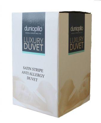 Dunlopillo Satin Stripe Anti Allergy 13.5 tog Duvet - Superking