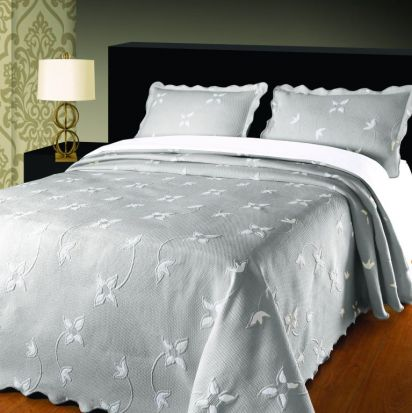 Elainer Julia Bedspread Grey/Silver - King
