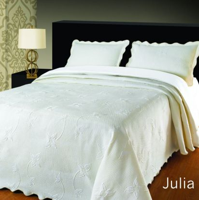 Elainer Julia Bedspread White - Superking