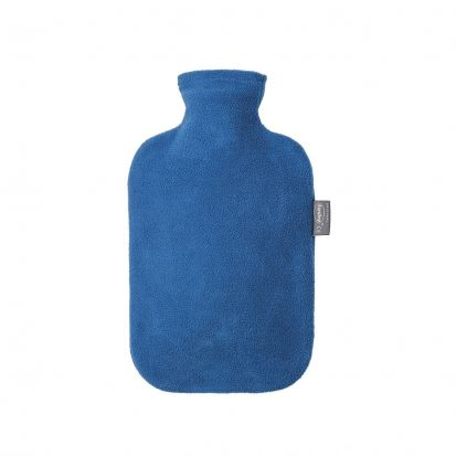 Fashy Hot Water Bottle with Cover - Sapphire