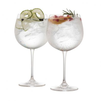 Galway Crystal Clarity Gin & Tonic Glass Pair