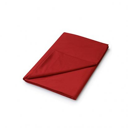 Helena Springfield Plain Dyed Red Flat Sheet - Single