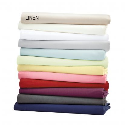Helena Springfield Plain Linen Dye Base Valance Sheet - Double