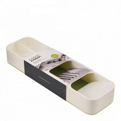 Joseph Joseph DrawerStore Compact Cutlery Organiser - White/Green