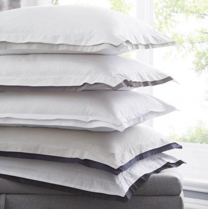 Karen Millen Signature Pillowcase Pair - White/Dove Grey