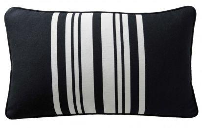Karen Millen Stripe Boudoir Cushion Black/White