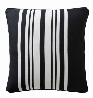 Karen Millen Stripe Square Cushion Black/White