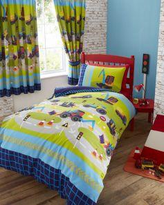 Kids Club Diggers Curtains 168 x 137cm
