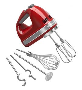 Kitchen Aid 9 Speed Hand Mixer Red