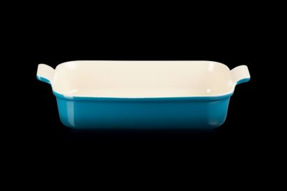 Le Creuset 32cm Deep Rectangle Dish - Deep Teal