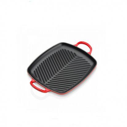 Le Creuset Signature 30cm Rectangular Grill - Cerise