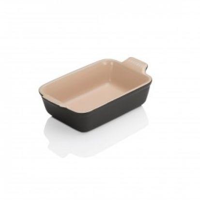 Le Creuset Stoneware 19cm Deep Rectangular Dish - Satin Black