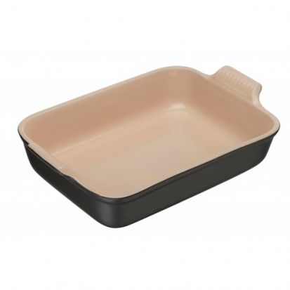 Le Creuset Stoneware 26cm Deep Rectangular Dish - Satin Black