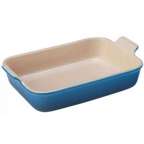 Le Creuset Stoneware 32cm Deep Rectangular Dish - Marseille Blue