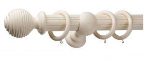 Monarch Earl Cream Complete Curtain Pole Set 160CM