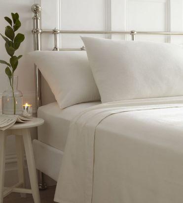 Portfolio Brushed Cotton Sheet Sets Cream - Superking