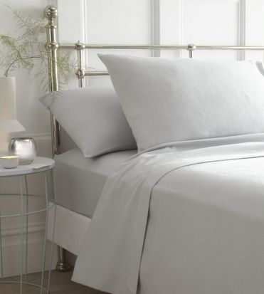 Portfolio Brushed Cotton Sheet Sets Grey - Double