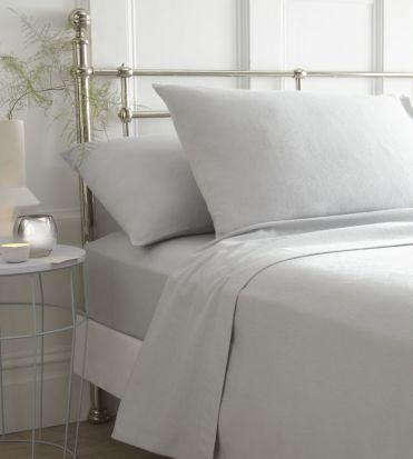 Portfolio Brushed Cotton Sheet Sets Grey - Single