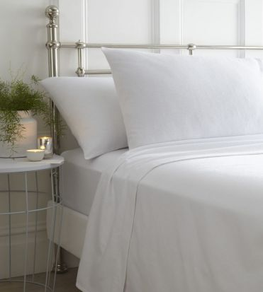 Portfolio Brushed Cotton Sheet Sets White - Superking