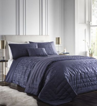 Portfolio Lucien Navy Duvet Cover Set - Superking