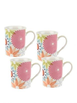 Portmeirion Set of 4 Mugs - Crazy Daisy