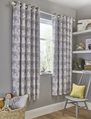 Samantha Faiers Elephant Trail Blackout Eyelet Curtains - 66