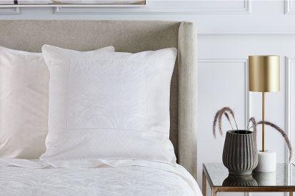 Sheridan Zola Jacquard Ivory European Single Pillowcase