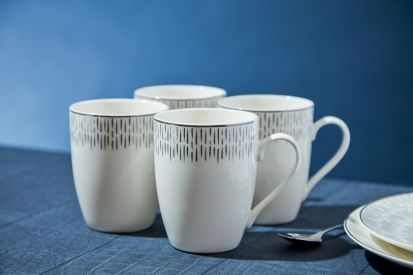 Simply Home Silver 4 Piece Mug Set