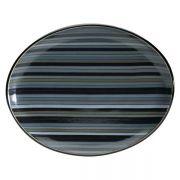 Denby Jet Stripes Oval Platter