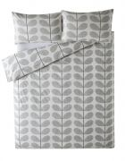 Orla Kiely Scribble Stem Duvet Cover Light Concrete Seagrass Single 1