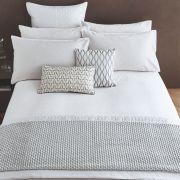 Peacock Blue Hotel Aura White Duvet Cover Set - King 2