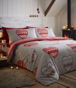 Portfolio Boden Red Duvet Cover Set - Superking